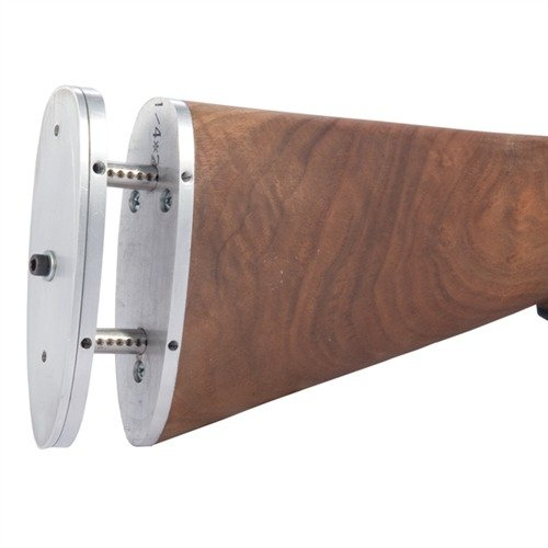 Lever Action Adjustable Butt Plate Silver Aluminum