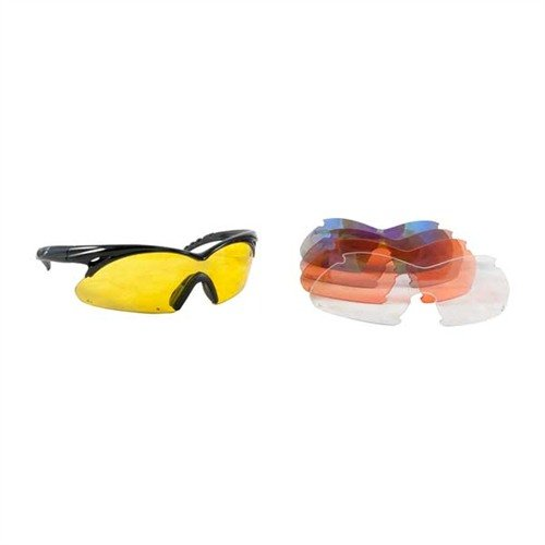 Multiple Lens Shift Interchangeable Lens Glasses Black