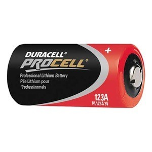 PROCELL CR123A Lithium Batteries 6/Pack