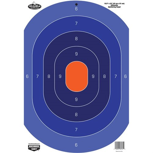 "Dirty Bird 16.5""x24"" Blue/Orange Oval Target-3 Pack"