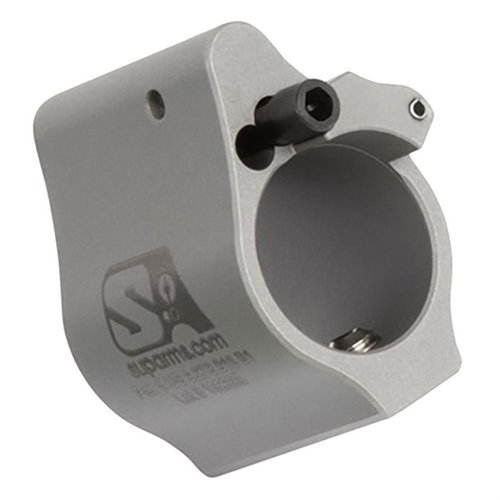 "AR-15 Adjustable Gas Block .625"" Solid Stainless Steel"