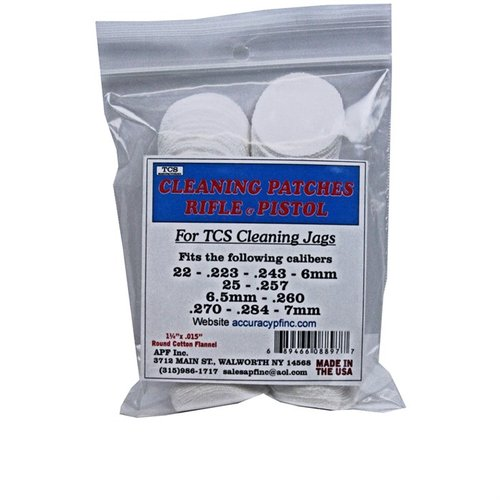 TCS Cleaning Patches 22 Caliber - 7mm