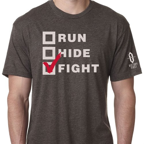 Run, Hide, Fight! TShirt Macchiatto Md