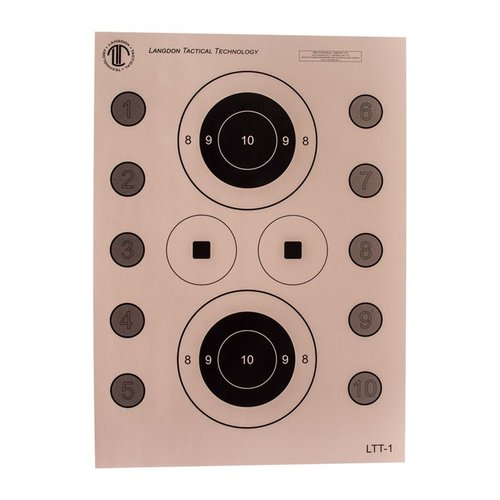 Langdon Tactical Pistol Skills Targets 100 Pack