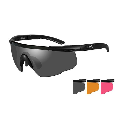 WX Saber Advanced-Black Frame-Grey/Rust Vermillion Lens